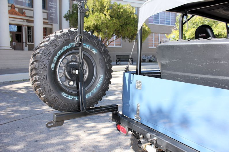 plusproducts fj tire carriers rear tow bumper  tire  cooler carrier